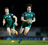 20th February 2021; Galway Sportsgrounds, Galway, Connacht, Ireland; Guinness Pro 14 Rugby, Connacht versus Cardiff Blues; Alex Wootton runs for the line to score a try for Connacht in the 37th minute