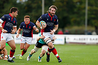 Alex Toolis of London Scottish during the Championship Cup match between London Scottish Football Club and Nottingham Rugby at Richmond Athletic Ground, Richmond, United Kingdom on 28 September 2019. Photo by Carlton Myrie / PRiME Media Images