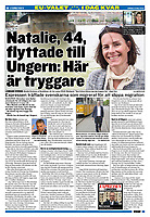 Expressen (Swedish boulevard daily) on Swedish right-wingers emigrating to Vikor Orbán's Hungary. Budapest, Hungary, 05.2019