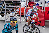 Peter Sagan (SVK/Bora-Hansgrohe) finishing after being involved in a crash <br /> <br /> Stage 3 from Lorient to Pontivy (183km)<br /> 108th Tour de France 2021 (2.UWT)<br /> <br /> ©kramon