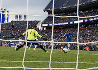 DENVER, CO - JUNE 19: Sandy Sanchez #1 is unable to prevent a goal during a game between Martinique and Cuba at Broncos Stadium on June 19, 2019 in Denver, Colorado.