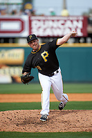 Pittsburgh Pirates pitcher Jim Fuller (78) delivers a pitch during a Spring Training game against the Toronto Blue Jays  on March 3, 2016 at McKechnie Field in Bradenton, Florida.  Toronto defeated Pittsburgh 10-8.  (Mike Janes/Four Seam Images)