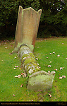 Grave of Sarah Heather 1817, Church of St. John the Baptist, Penshurst Village, Kent, England, UK