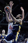Real Madrid's Felipe Reyes (l) and Alba Berlin's Reggie Redding during Euroleague match.March 12,2015. (ALTERPHOTOS/Acero)