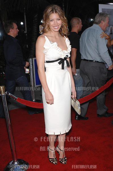 """Jessica Biel at the world premiere of """"I Now Pronounce You Chuck and Larry"""" at the Gibson Amphitheatre, Universal City..July 13, 2007  Los Angeles, CA.Picture: Paul Smith / Featureflash"""