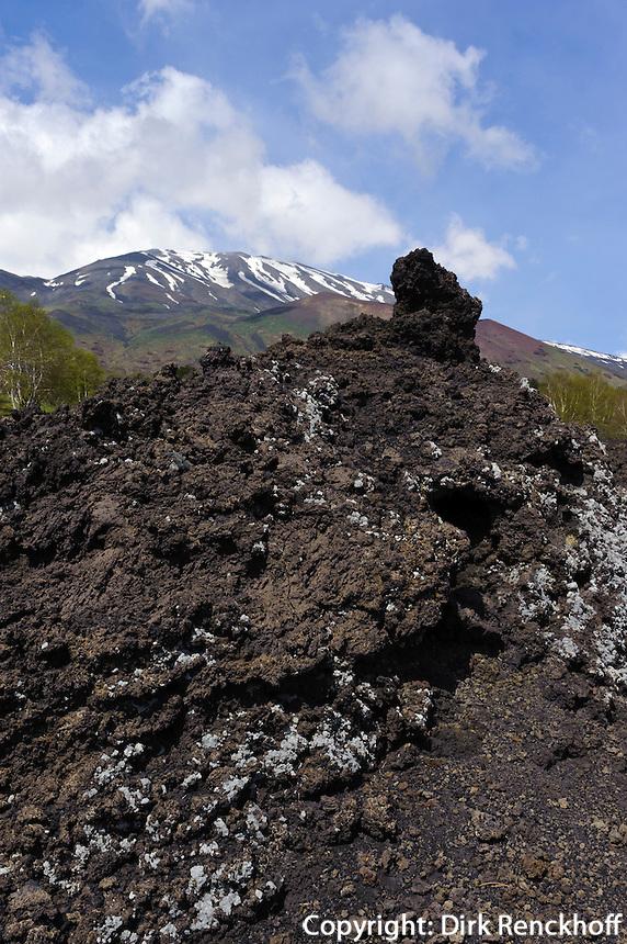 Blick auf Etna, Sizilien, Italien , UNESCO-Weltnaturerbe