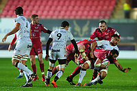 Uzair Cassiem of Scarlets in action during the European Rugby Challenge Cup Round 5 match between the Scarlets and RC Toulon at the Parc Y Scarlets in Llanelli, Wales, UK. Saturday January 11 2020