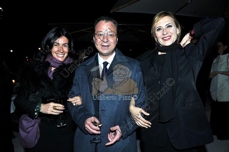 TERRY MAROCCO, GIORGIO MULE' E EMANUELA FIORENTINO<br /> PREMIO GUIDO CARLI - SECONDA  EDIZIONE<br /> RICEVIMENTO A CASINA VALADIER  ROMA 2011