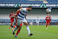 Queens Park Rangers' Yoann Barbet heads the ball back to his keeper<br /> <br /> Photographer Stephanie Meek/CameraSport<br /> <br /> The EFL Sky Bet Championship - Queens Park Rangers v Middlesbrough - Saturday 26th September 2020 - Loftus Road - London <br /> <br /> World Copyright © 2020 CameraSport. All rights reserved. 43 Linden Ave. Countesthorpe. Leicester. England. LE8 5PG - Tel: +44 (0) 116 277 4147 - admin@camerasport.com - www.camerasport.com