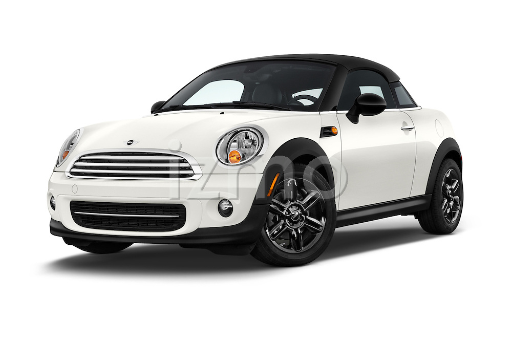 Stock pictures of low aggressive front three quarter view of a 2015 MINI Mini Cooper 2 Door Coupe Low Aggressive