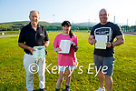 John Mitchell's GAA club launch their Drive In bingo at the club on Monday and is taken place on Friday 30th July. L to r: Denis Mannix, Tanya O'Connor and Mark McEvoy.