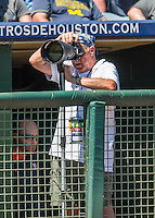 15 March 2016: Baseball photographer Steve Moore works works a Spring Training pre-season game between the Washington Nationals and the Houston Astros at Osceola County Stadium in Kissimmee, Florida. The Nationals defeated the Astros 6-4 in Grapefruit League play. Mandatory Credit: Ed Wolfstein Photo *** RAW (NEF) Image File Available ***