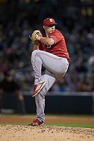 North Carolina State Wolfpack relief pitcher Austin Staley (20) in action against the Charlotte 49ers at BB&T Ballpark on March 29, 2016 in Charlotte, North Carolina. The Wolfpack defeated the 49ers 7-1.  (Brian Westerholt/Four Seam Images)