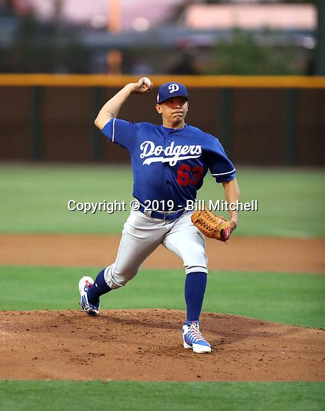 Gerardo Carrillo - Los Angeles Dodgers 2019 spring training (Bill Mitchell)