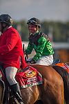 AUG 15 ,2015: The Pizza Man,ridden by Florent Geroux,wins the Arlington Million at Arlington International Race Track in Arlington Heights,IL. Kazushi Ishida/ESW/CSM