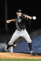 Omaha Storm Chasers pitcher Kameron Loe (29) delivers a pitch during the second game of a double header against the Nashville Sounds on May 21, 2014 at Herschel Greer Stadium in Nashville, Tennessee.  Nashville defeated Omaha 13-4.  (Mike Janes/Four Seam Images)