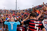 East Hartford, CT - Saturday July 01, 2017: Brad Guzan during an international friendly match between the men's national teams of the United States (USA) and Ghana (GHA) at Pratt & Whitney Stadium at Rentschler Field.