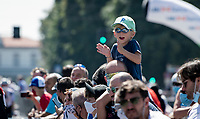 a lot of enthusiasm at the start in Bergamo<br /> <br /> 114th Il Lombardia 2020 (1.UWT)<br /> 1 day race from Bergamo to Como (ITA/231km) <br /> <br /> ©kramon