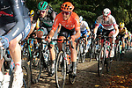 The peloton including Matteo Tentin (ITA) CCC Team on the first ascent of the Kemmelberg during the 82nd edition of Gent-Wevelgem 2020 running 232km from Ypres to Wevelgem, Belgium. 11th October 2020.  <br /> Picture: Colin Flockton   Cyclefile<br /> <br /> All photos usage must carry mandatory copyright credit (© Cyclefile   Colin Flockton)
