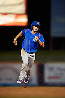South Bend Cubs shortstop Rafael Narea (2) runs the bases during the second game of a doubleheader against the Lake County Captains on May 16, 2018 at Classic Park in Eastlake, Ohio.  Lake County defeated South Bend 5-2.  (Mike Janes/Four Seam Images)