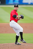 Kannapolis Intimidators starting pitcher Sean Bierman (26) in action against the Greenville Drive at CMC-Northeast Stadium on April 6, 2014 in Kannapolis, North Carolina.  The Intimidators defeated the Drive 8-5.  (Brian Westerholt/Four Seam Images)