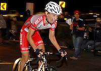 COLOMBIA. 16-08-2014. Alvaro Gomez ciclista durante la contrarreloj individual nocturna de 17.5 Km en la penúltima etapa de la Vuelta a Colombia 2014 en bicicleta que se cumple entre el 6 y el 17 de agosto de 2014. / Alvaro Gomez cyclist during the night individual time trial of 17.5 Km in the penultimate stage of the Tour of Colombia 2014 in bike holds between 6 and 17 of August 2014. Photo:  VizzorImage/ José Miguel Palencia / Str