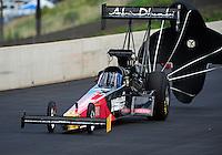 Jul, 22, 2011; Morrison, CO, USA: NHRA top fuel dragster driver Rod Fuller during qualifying for the Mile High Nationals at Bandimere Speedway. Mandatory Credit: Mark J. Rebilas-