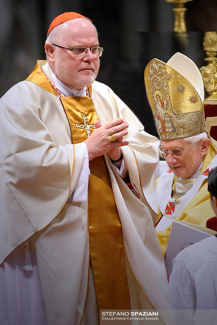 The Archbishop of Munich and Freising, Reinhard Cardinal Marx, wears the gold ring he received from Pope Benedict XVI at St. Peter's Basilica in Vatican City, 21 November 2010. 24 Bishops were appointed Cardinals this weekend
