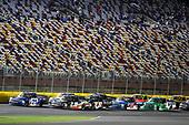 #21: Johnny Sauter, GMS Racing, Chevrolet Silverado ISM Connect and #18: Noah Gragson, Kyle Busch Motorsports, Toyota Tundra Safelite AutoGlass