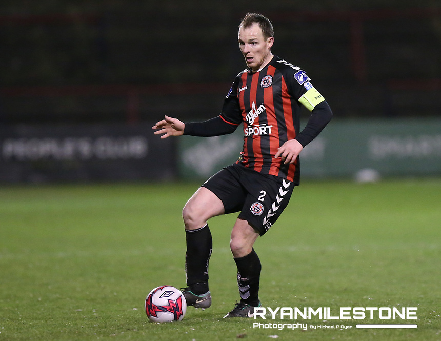 Derek Pender of Bohemians during the SSE Airtricity League Premier Division game between Bohemians and Derry City on Tuesday 27th February 2018 at Dalymount Park, Dublin. Photo By: Michael P Ryan