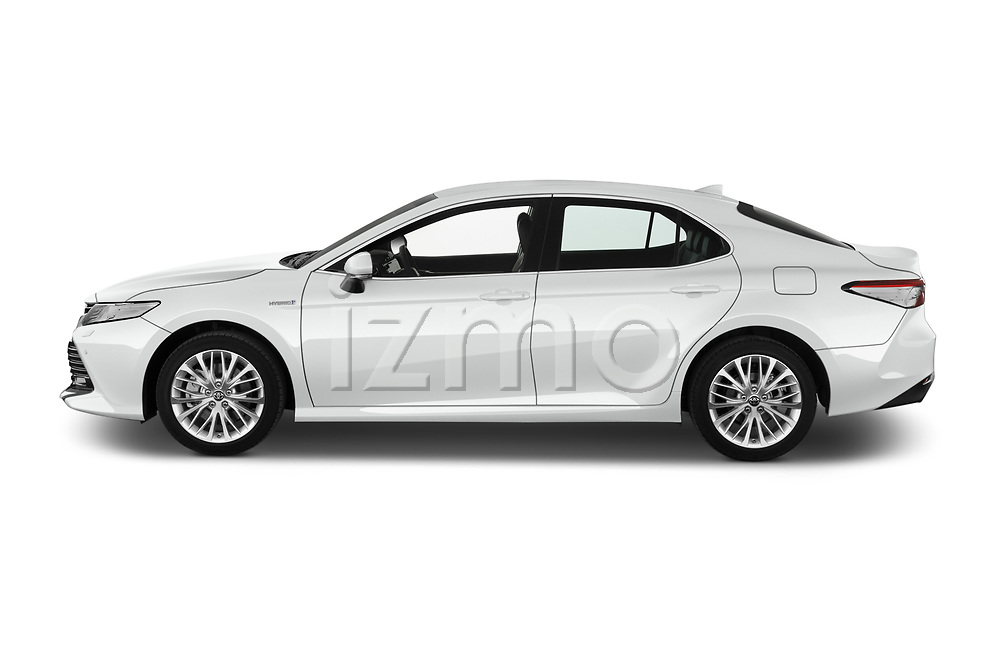 Car Driver side profile view of a 2019 Toyota Camry Premium 4 Door Sedan Side View