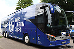 10.08.2019,  GER; DFB Pokal, SV Drochtersen/Assel vs FC Schalke 04 ,DFL REGULATIONS PROHIBIT ANY USE OF PHOTOGRAPHS AS IMAGE SEQUENCES AND/OR QUASI-VIDEO, im Bild Mannschaftsbus von Schalke Foto © nordphoto / Witke