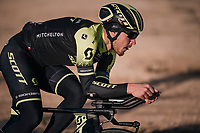 Matteo Trentin  (ITA/Michelton-Scott) leading the TTT training at dawn at the Circuito de Almeria Fans <br /> <br /> Michelton-Scott training camp in Almeria, Spain<br /> february 2018