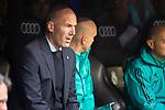 Real Madrid coach Zinedine Zidane during La Liga match between Real Madrid and Leganes at Santiago Bernabeu Stadium in Madrid, Spain. April 28, 2018. (ALTERPHOTOS/Borja B.Hojas)