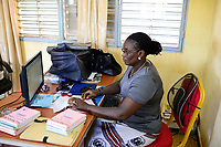 BURKINA FASO, Ouagadougou, food trader Velegda Sarl, book keeping department