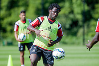 Thursday 24 July 2014<br /> Pictured: Wilfried Bony<br /> Re: Swansea City Training at Fairwood