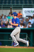 Midland RockHounds third baseman Matt Chapman (7) at bat during a game against the San Antonio Missions on April 21, 2016 at Nelson W. Wolff Municipal Stadium in San Antonio, Texas.  Midland defeated San Antonio 9-2.  (Mike Janes/Four Seam Images)
