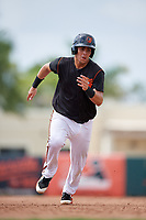 GCL Orioles catcher Jose Montanez (31) runs the bases during the first game of a doubleheader against the GCL Twins on August 1, 2018 at CenturyLink Sports Complex Fields in Fort Myers, Florida.  GCL Twins defeated GCL Orioles 7-6 in the completion of a suspended game originally started on July 31st, 2018.  (Mike Janes/Four Seam Images)