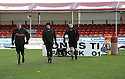 02/01/2010  Copyright  Pic : James Stewart.sct_jspa12_falkirk_v_st_johnstone  .:: REFEREE STEVIE O'REILLY INSPECTS THE PITCH :: .James Stewart Photography 19 Carronlea Drive, Falkirk. FK2 8DN      Vat Reg No. 607 6932 25.Telephone      : +44 (0)1324 570291 .Mobile              : +44 (0)7721 416997.E-mail  :  jim@jspa.co.uk.If you require further information then contact Jim Stewart on any of the numbers above.........