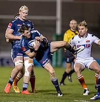 19th December 2020; AJ Bell Stadium, Salford, Lancashire, England; European Champions Cup Rugby, Sale Sharks versus Edinburgh; Sam James of Sale Sharks catches the ball
