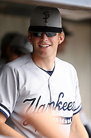 July 9th 2007:  Dave Williams of the Staten Island Yankees, Class-A affiliate of the New York Yankees, at Dwyer Stadium in Batavia, NY.  Photo by:  Mike Janes/Four Seam Images