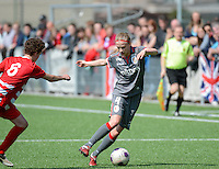20140419 - ANTWERPEN , BELGIUM : Standard's Julie Biesmans pictured during the soccer match between the women teams of RAFC Antwerp Ladies  and Standard Femina  , on the 24th matchday of the BeNeleague competition on Saturday 19 April 2014 in Deurne .  PHOTO DAVID CATRY