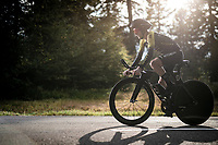 Adam Yates (GBR/Mitchelton-Scott) on the steep parts of the individual time trial up the infamous Planche des Belles Filles<br /> <br /> Stage 20 (ITT) from Lure to La Planche des Belles Filles (36.2km)<br /> <br /> 107th Tour de France 2020 (2.UWT)<br /> (the 'postponed edition' held in september)<br /> <br /> ©kramon