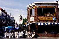 Prince-Arthur pedestrian street lined up with terrasses, June 1999.<br /> <br /> Les terrasses de la rue pietonniere Prince-Arthur, Juin 1999<br /> <br /> PHOTO :  Agence Quebec Presse - Pierre Roussel