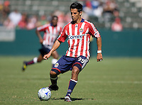 Chivas USA forward Eduardo Lillingston moves with the ball. The Houston Dynamo defeated Chivas USA 3-2 at Home Depot Center stadium in Carson, California on Sunday October 25, 2009...