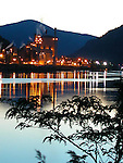 Celgar pulp mill on Columbia River at Castlegar, British Columbia Canada