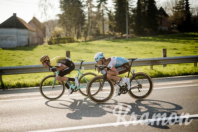 Wout Van Aert (BEL/Jumbo-Visma) & Oliver Naesen (BEL/AG2R - La Mondiale)<br /> <br /> 62nd E3 BinckBank Classic (Harelbeke) 2019 <br /> One day race (1.UWT) from Harelbeke to Harelbeke (204km)<br /> <br /> ©kramon