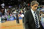 MADRID, Spain (22/01/11). Liga ACB de baloncesto, jornada 18, Real Madrid vs Asefa Estudiantes. Caja Magica...Luis Casimiro...©Raul Perez .