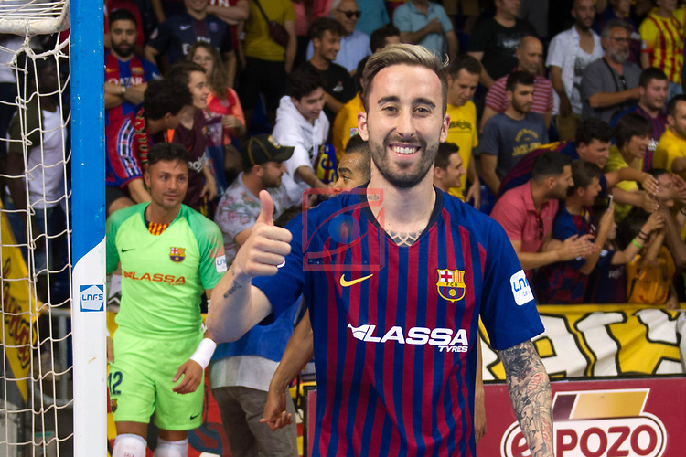 League LNFS 2018/2019.<br /> PlayOff Final. 1er. partido.<br /> FC Barcelona Lassa vs El Pozo Murcia: 7-2.<br /> Mario Rivillos.