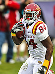 Iowa State Cyclones tight end Ernst Brun Jr. (84) in action during the game between the Iowa State Cyclones and the TCU Horned Frogs  at the Amon G. Carter Stadium in Fort Worth, Texas. Iowa State defeats TCU 37 to 23.